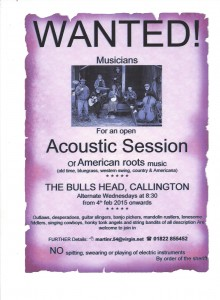 Callington Acoustic music session