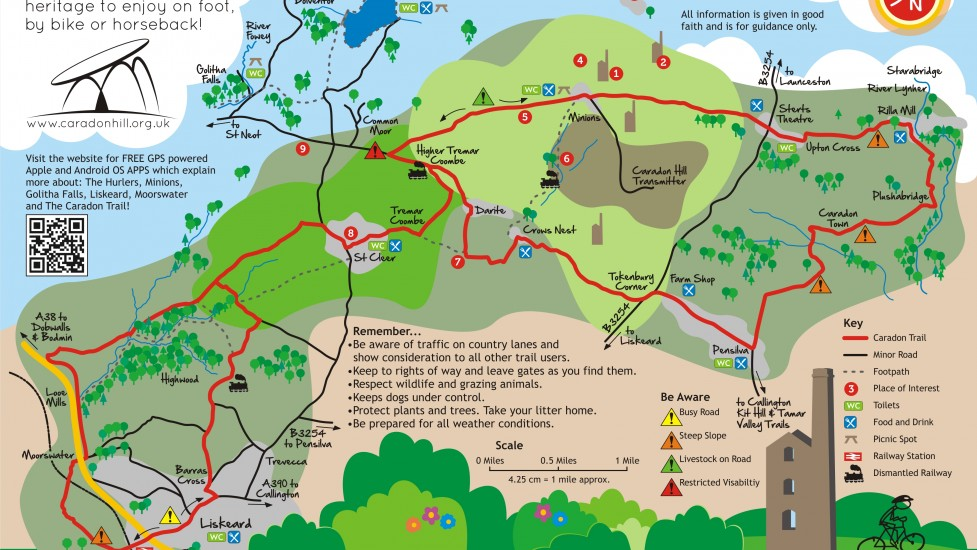 Caradon Trail map