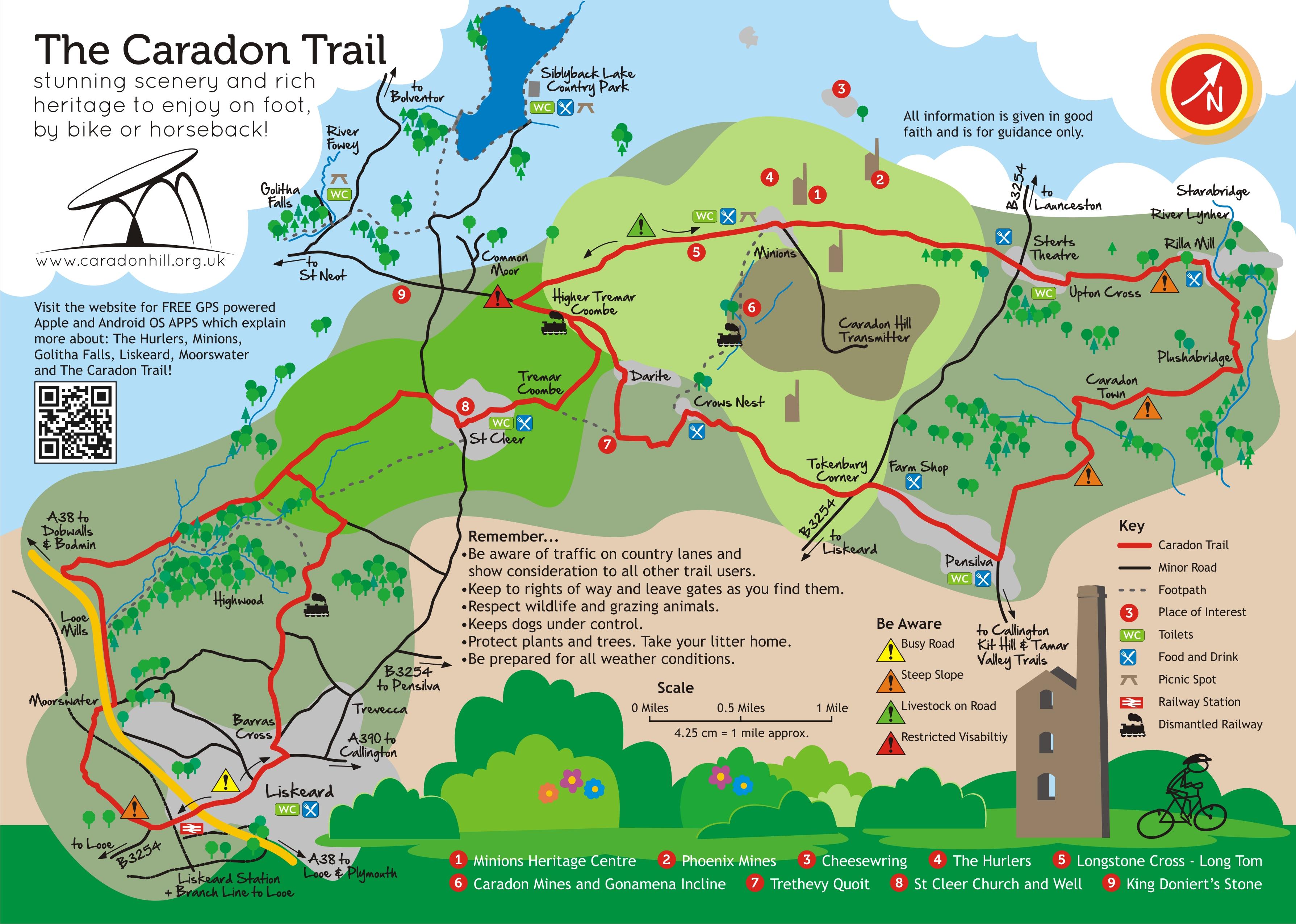 Bodmin Moor Map Walking In & Around Liskeard | Liskeard Walks