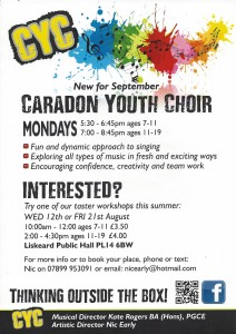 Caradon Youth Choir Workshops