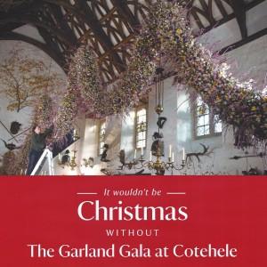 Christmas Garland & Decorated Hall 2 - Cotehele
