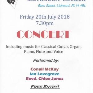 Concert Liskeard Wesley