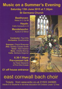 East Cornwall Bach Choir - Music on a Summer's Evening