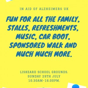 In aid of Alzheimers