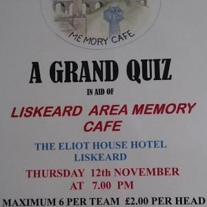 Liskeard Memory Cafe Grand Quiz