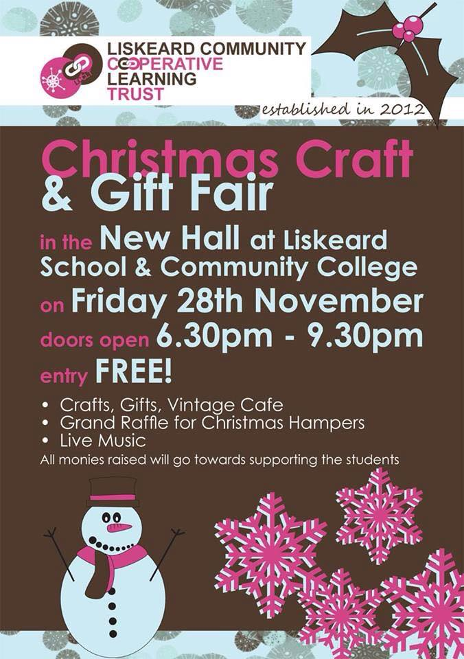Liskeard School Xmas Fair
