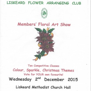 Liskeard flower arrangers members floral art show