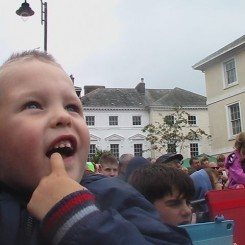 Mary Roberts - my grandson Jared Foster age 3yrs, the wonderment on his face was lovely to see.