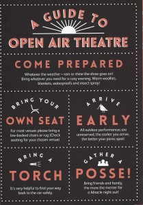 Miracle outdoor theatre guide