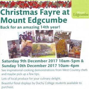 Mount Edgcumbe Xmas Fayre poster