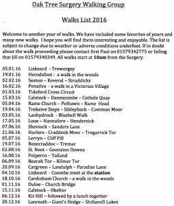 Oaktree walks 2016