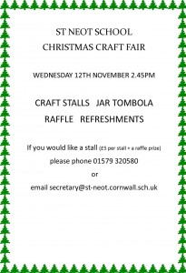 St Neot Schol Christmas Craft Fair