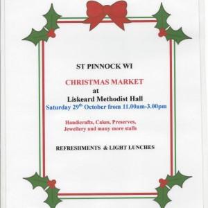 St Pinnock WI Christmas Market